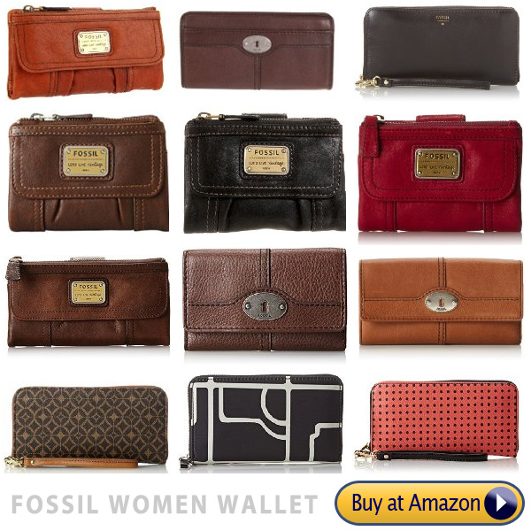 fossil women brand name wallets collection
