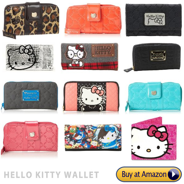 brand name Hello Kitty faux leather little girls wallets