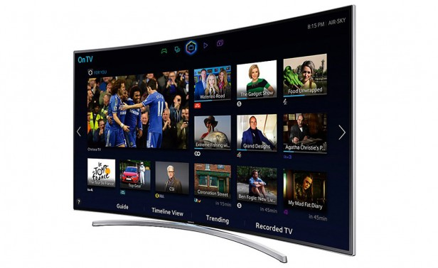 Wide Angle Smart Curved TV Screens With Smart Processor Technology