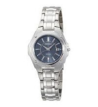 Silver Strap Blue Dial  Women Watch
