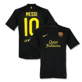 Messi black soccer jersey Barcelona club by Nike