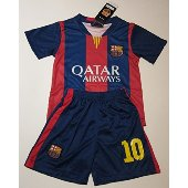 Qatar Airways Barcelona home soccery jersey for kids